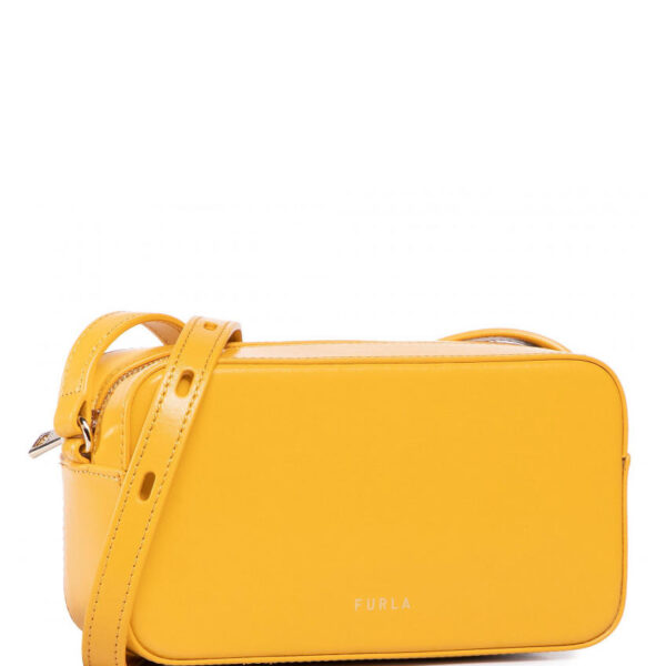 FURLA Block Mini Ledertasche in gelb