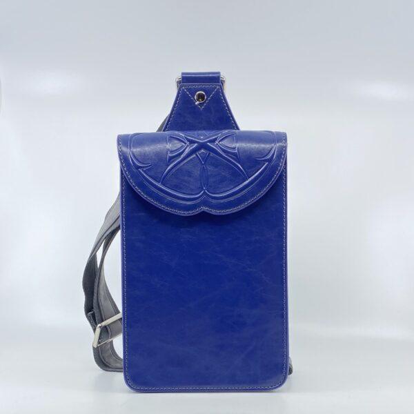 Jean MARQUIS Schultertasche blau